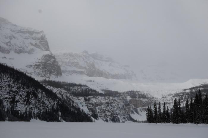 A snowy morning at Boom Lake