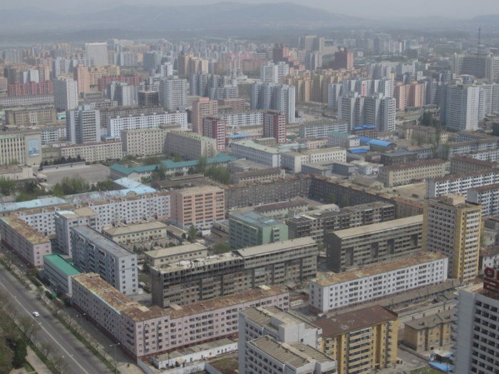 View of Pyongyang, the capital, from Juche Idea Tower