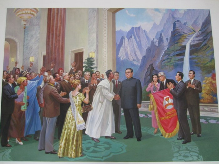 Kim Il Sung, internationally renowned leader.