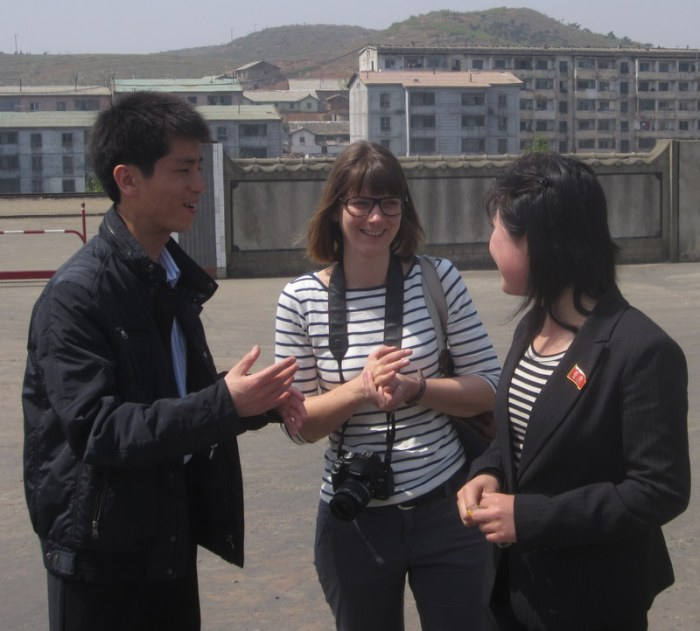Our guides: Mr. Kim, Hannah, and Hwong