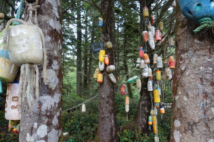Campgrounds and beach / trail access points are well marked with colourful old buoys