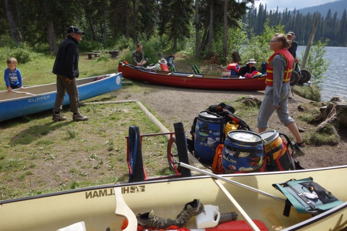 Loading up the canoe