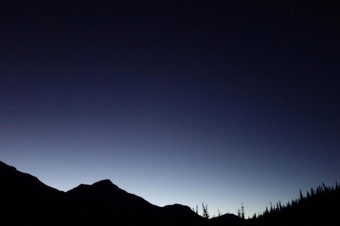 Day turns to night