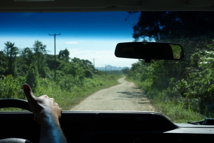 Driving south into Toledo, the southern most district of Belize