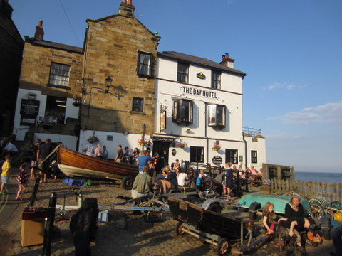 Robin Hood's Bay, the traditional ending point of the coast-to-coast trail