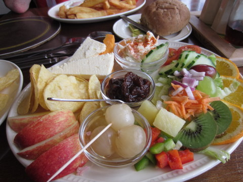 "A delicious ""Ploughman's Lunch"""