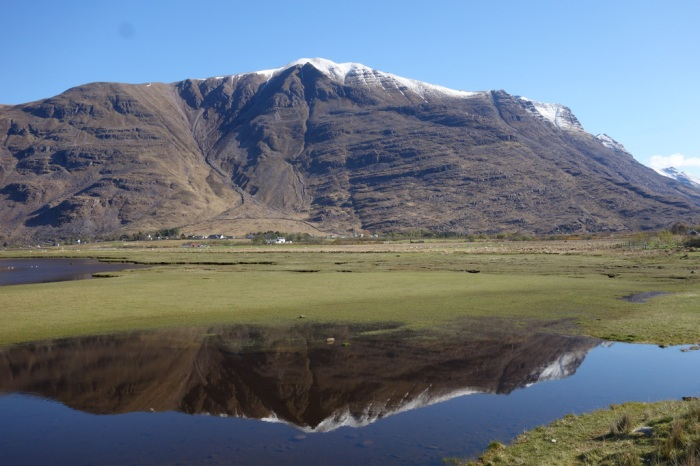 Looking back across Loch Torridon to the wild Liathach mountains