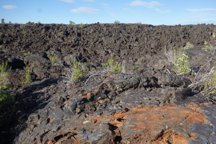 Imagine walking across miles of broken sharp lava