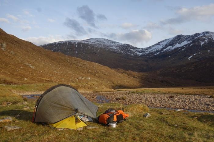 Wild camping along Pollan Buidhe