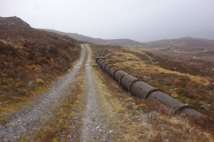 Old concrete pipeline running through Gleann Goibhre