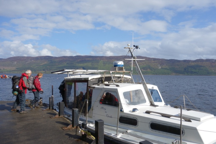 Crossing Loch Ness on the Gordon Menzies special