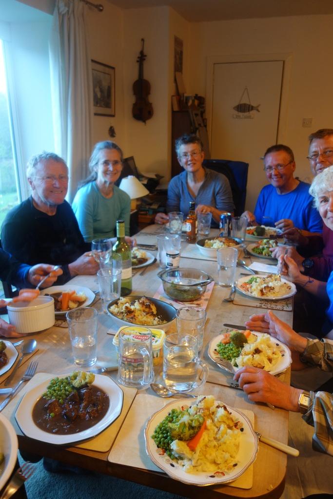 Enjoying the hospitality of Janet and Alec Sutherland