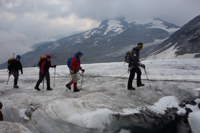 Crossing the Big Eddy Glacier