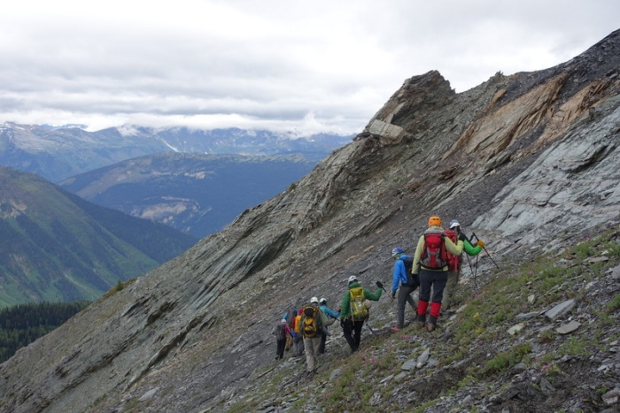 Searching for a way up to the ridge