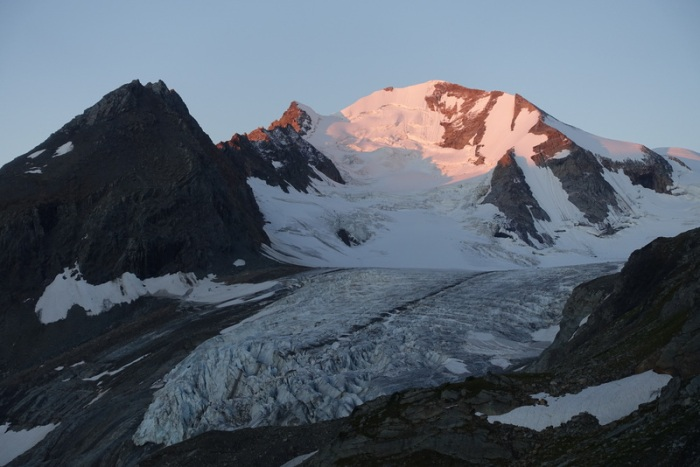 First light on the high peaks