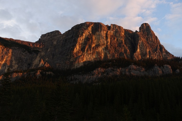 Early morning sun-rays bring rock to life