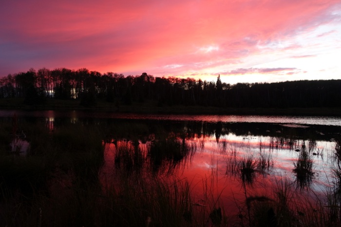 Sunset on Blackett Lake