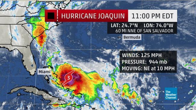 Hurricane Joaquin crashes into the Bahamas