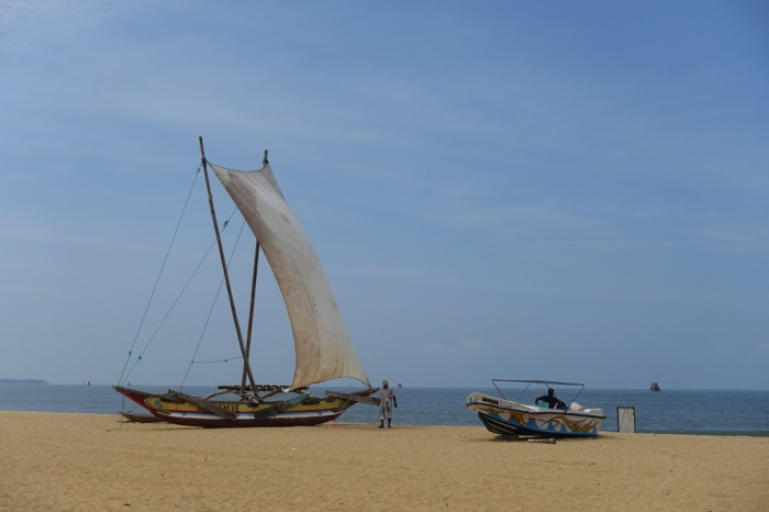 An Oruwa - a traditional fishing boat and the fastest sailing vessel in the world!