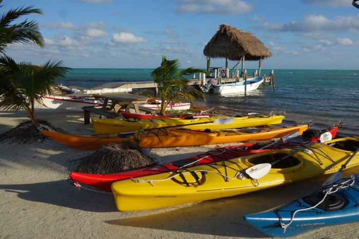 January - Sea kayaking in Belize