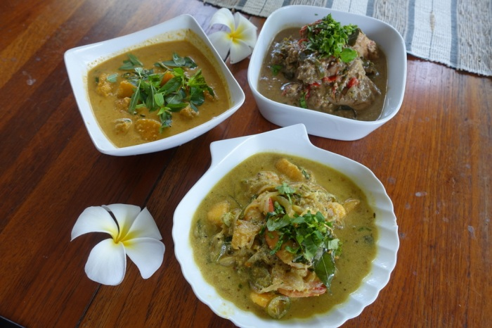 Three kinds of curry