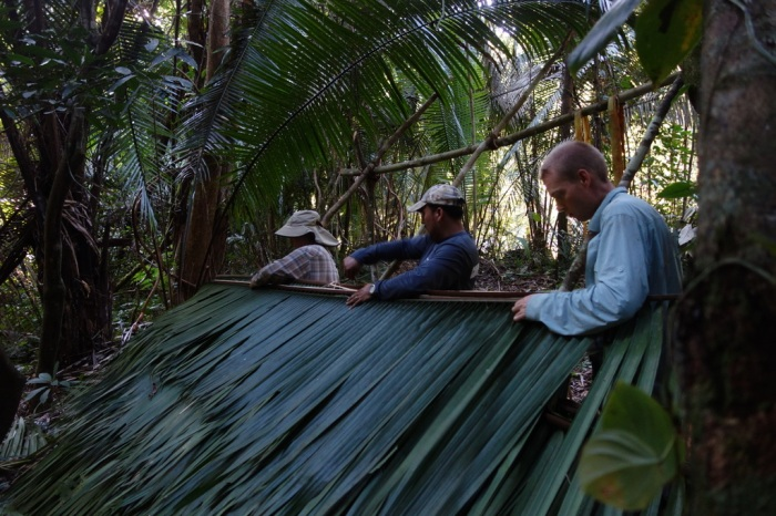 February - learning jungle survival skills with two ex-military in Belize