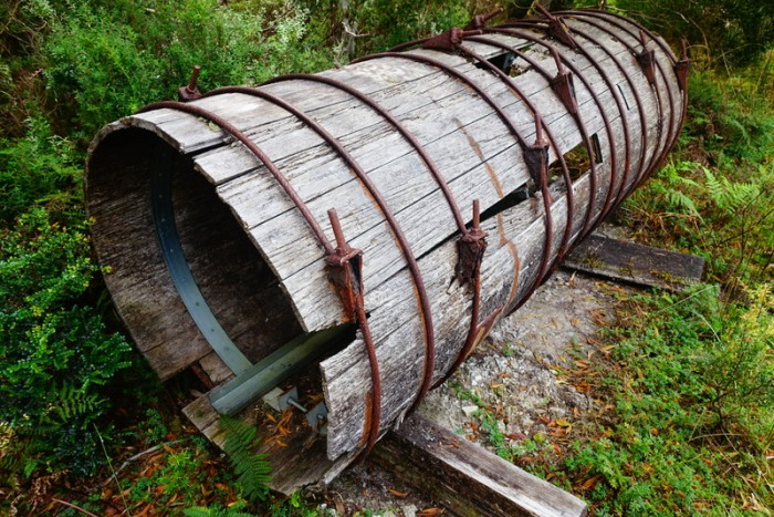 An original water pipeline from the early 1900s