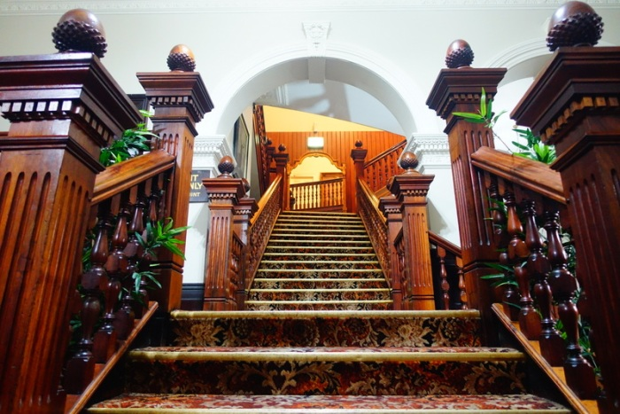 Empire Hotel's infamous staircase