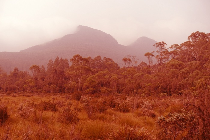 Bush fire smoke obscures spectacular peaks