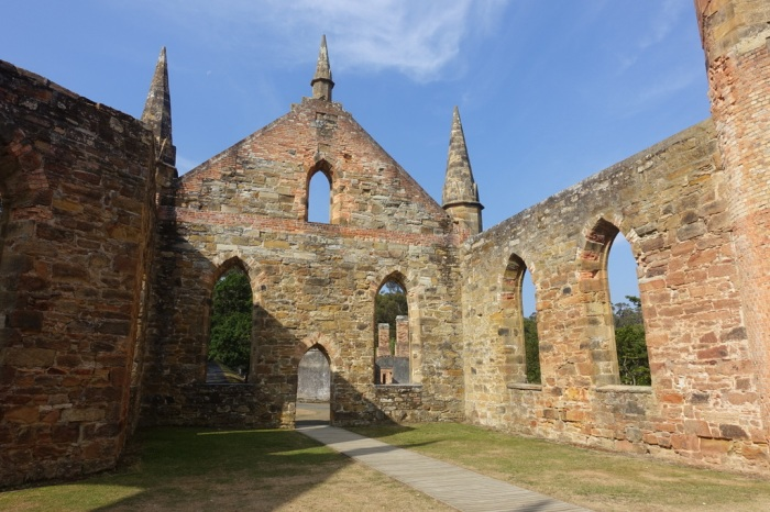 Ruins of the church at Port Arthur