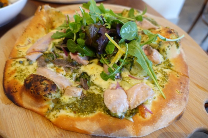 Tasman Pizza - locally caught fish, anchovies, capers, fennel, rocket, and preserved lemon