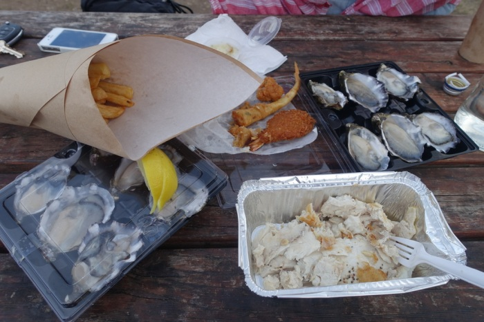 Fish & Oysters for dinner