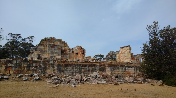 Ruins of the Coal Mines where convicts performed the hardest of hard labour