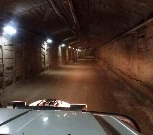 Driving deep into the mine Photo credit: Queenstown Heritage Tours