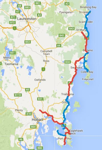 Cycling Tasmania – Day 1-10