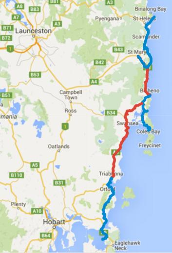 Cycling Tasmania – Day 1-6