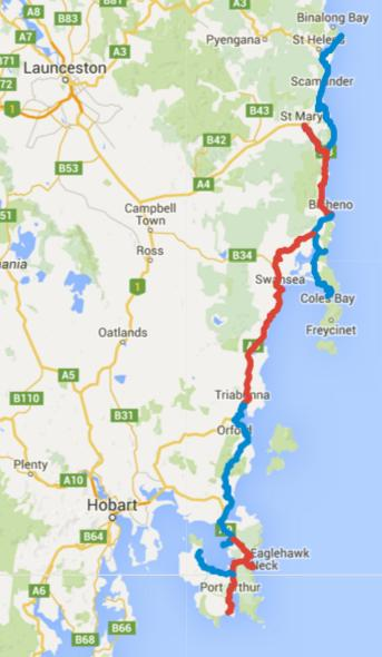 Cycling Tasmania – Day 1-9