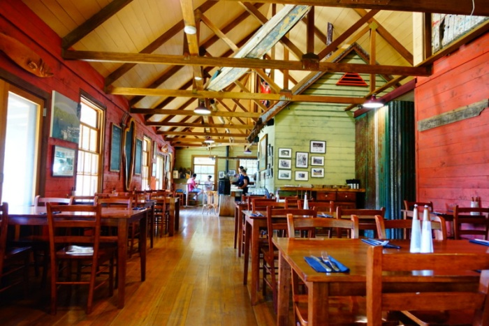 Tarkine Hotel's dining hall