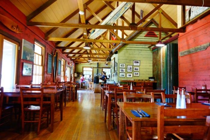 Tarkine Hotel's dining hall