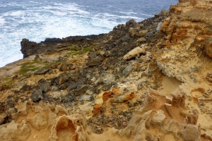 Cape Bridgewater - One by one, jagged volcanic rocks tumble into the sea