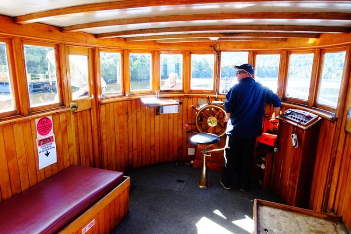 Skipper in the wheelhouse