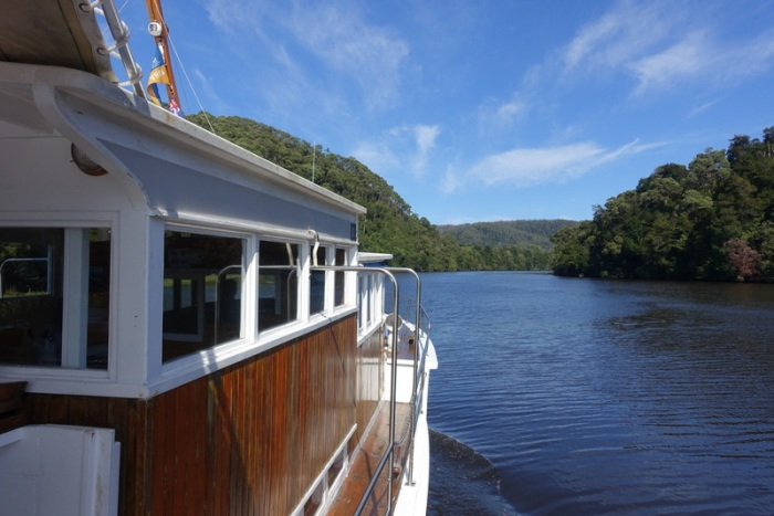 Cruising down the Pieman River