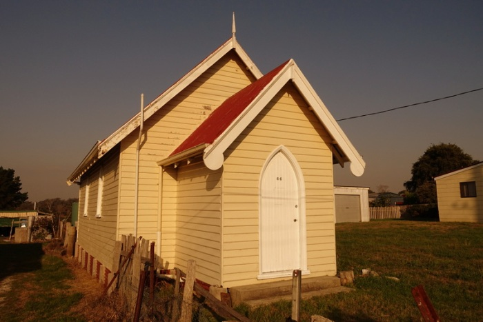 The obscure Southern Presbyterian Church in Gladstone - services only one Sunday a month