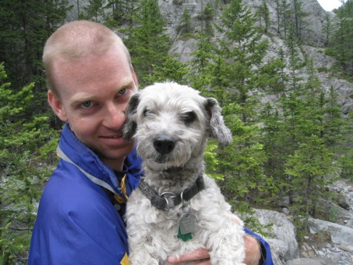 Canada, 2008 - Exploring the Rockies with my faithful hiking partner, Scamp.