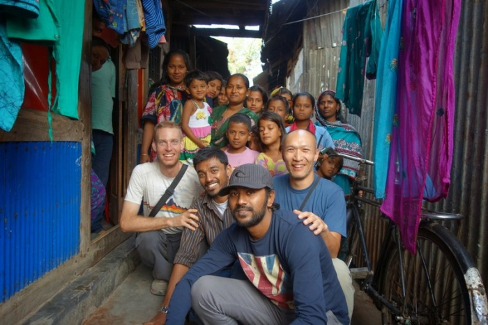 Bangladesh, 2013 - Making new friends in the slums of Dhaka