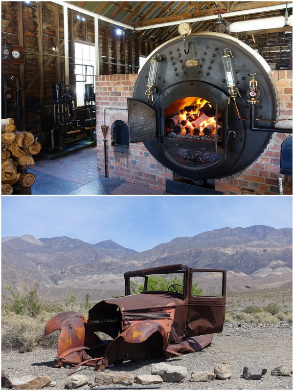 Australia - an incredibly hot food furnace powers mining operations California - an old car rusts in the hot desert sun