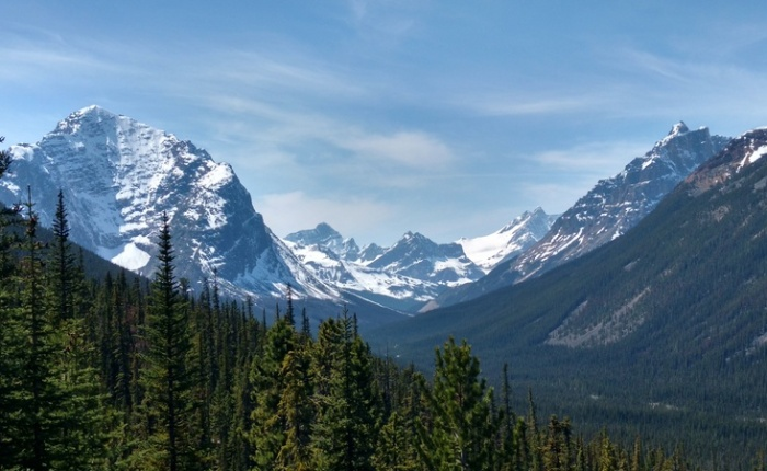 Cycling the IcefieldParkway