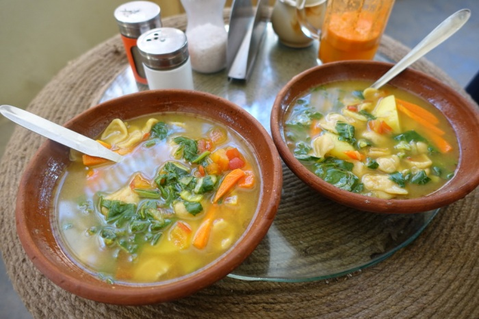 Skew, a thick, chewy vegetable soup