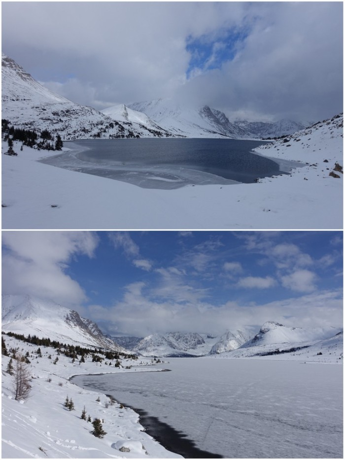 Ptarmigan Lake before & after