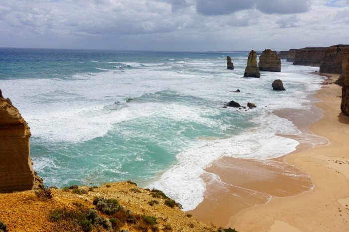 February - visiting the famous The Twelve Apostles along Australia's Great Ocean Road